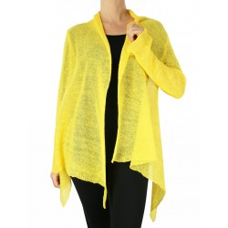 Yellow cardigan sweater