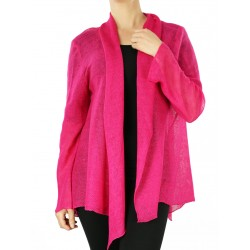 Fuchsia cardigan sweater
