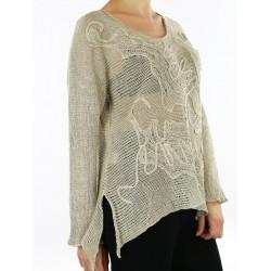 Handmade linen blouse