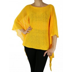 Yellow linen blouse