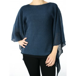 Navy linen blouse