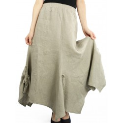 Asymmetrical linen skirt