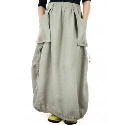Avant-garde linen skirt