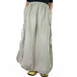 Avant-garde linen skirt of Podlasek
