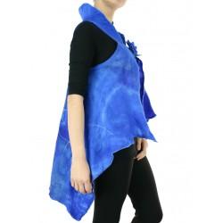 Artistic silk felted waistcoat