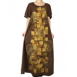 Hand-painted cotton dress