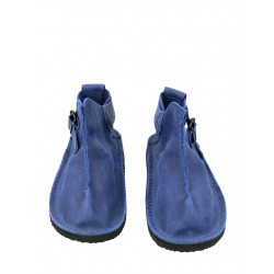 Handmade Vagabond leather shoes in dark blue color.