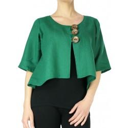 Green linen jacket