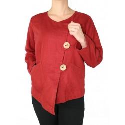 Asymmetrical linen blouse NP