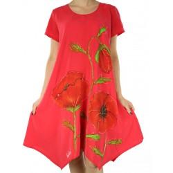 Hand-painted dress Naturally Podlasek