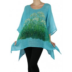 Hand-painted linen blouse Naturally Podlasek