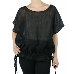 Black linen blouse NP