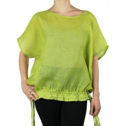 Linen blouse with adjustable length NP